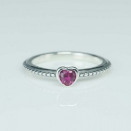 RIng Heart 5mm. Circonia
