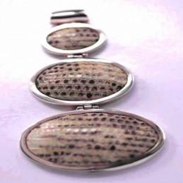 Pendant Oval Snake Skin