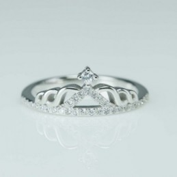 Ring Crown 8mm. Circonia