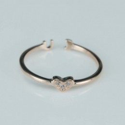 Ring  Heart  4mm.  rose...