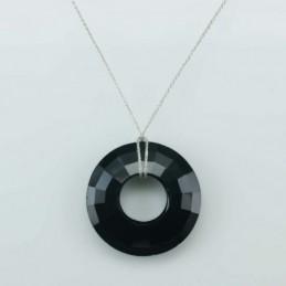 Necklace Donut Black color