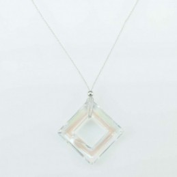 Necklace Square Crystal...