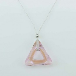 Necklace Triangle Rose color