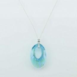 Necklace Oval Zafire color