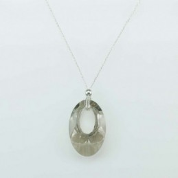 Necklace oval Grey color