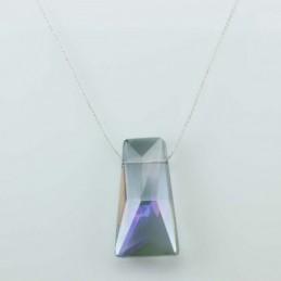 Necklace Triangle purple color