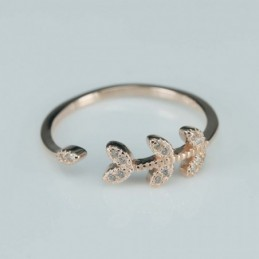 Ring  Leaf  6mm.  rose...