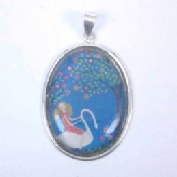 Pendant Oval 25x32mm. Image...