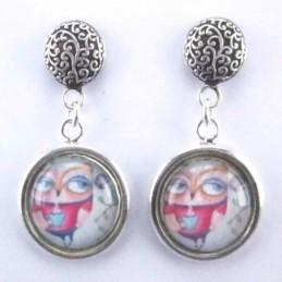 Earring Round with Photo Olw