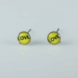 Earring Round 5mm. with...