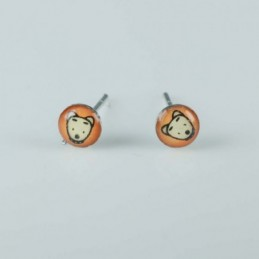 Earring Round 5mm. with Photo