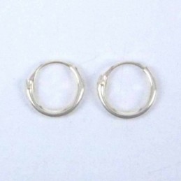 Ea Hoop 1.2X8mm. Gold Plated
