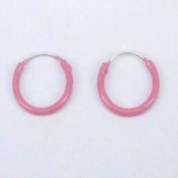 Ea Hoop 1.2X10mm. Rose color