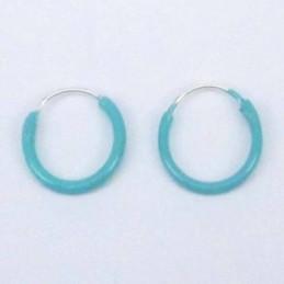 Ea Hoop 1.2X10mm. Aqua color