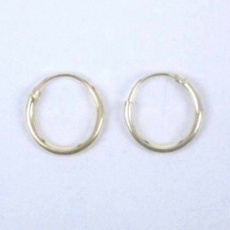 Ea Hoop 1.2X10mm. Gold Plated