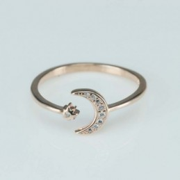 Ring  moon  9mm.  rose...