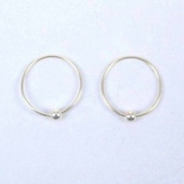 Ea Hoop Ball 10mm. Gold Plated