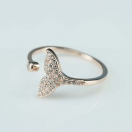 Ring  whale  13mm.  rose...