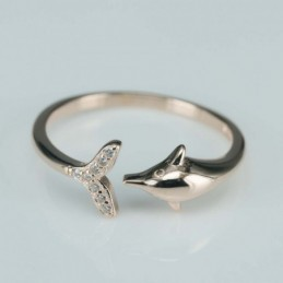 Ring  dolphin  8mm.  rose...