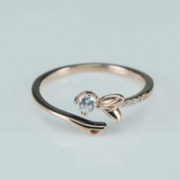 Ring   6mm.  rose  Circonia