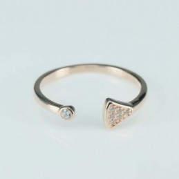 Ring  triangle  6mm.  rose...