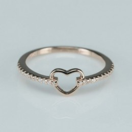 Ring  heart  7mm.  rose...
