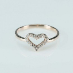 Ring  heart  9mm.  rose...