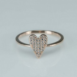 Ring  heart  11mm.  rose...