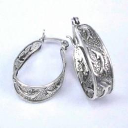 Earring Hand Fan Abalon Shell