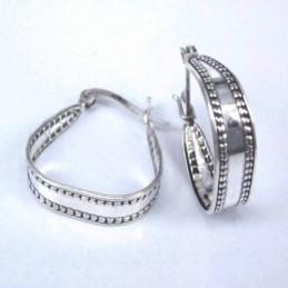 Earring Oval MOP Shell