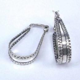 Earring Oval Abalon Shell