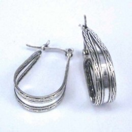 Earring Rectangle Abalon Shell