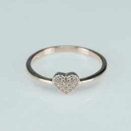 Ring  heart  6mm.  rose...