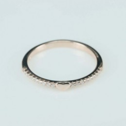 Ring  heart  3mm.  rose...