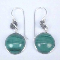 Earrings Malachite Stone