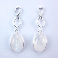 Earrings Moon Stone