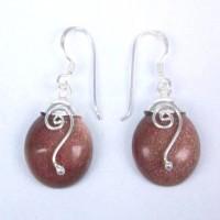 Earrings Sun Stone