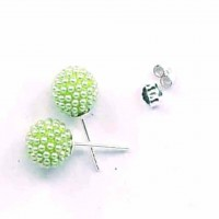 Earring Ball Micro Pearls