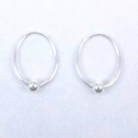 Earrings Hoop Ball
